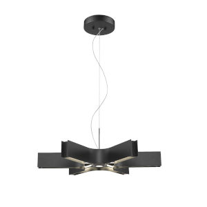 Arcano Matte Black Six-Light LED Pendant