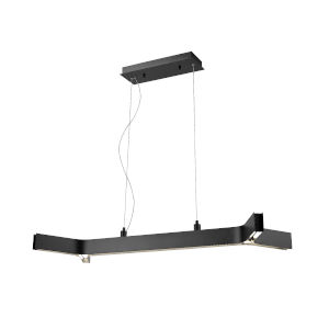 Arcano Matte Black Five-Light LED Pendant