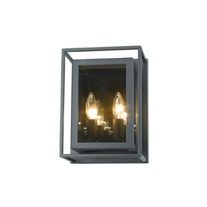 Infinity Misty Charcoal Two-Light Wall Sconce