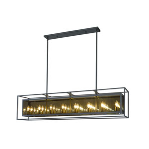 Infinity Misty Charcoal 16-Light Island Chandelier