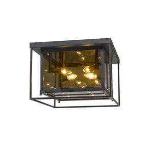 Infinity Misty Charcoal Four-Light Flush Mount