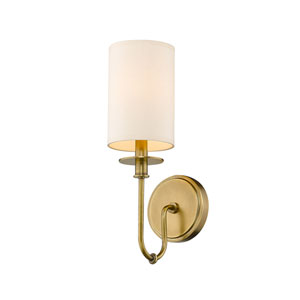 Ella Rubbed Brass One-Light Wall Sconce