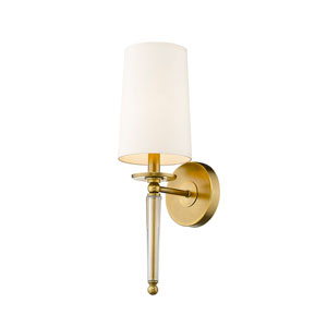 Avery Rubbed Brass One-Light Wall Sconce