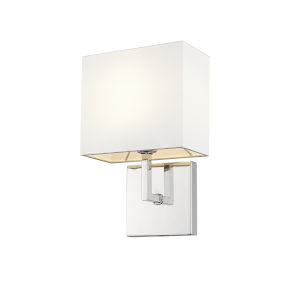 Saxon Polished Nickel One-Light Wall Sconce
