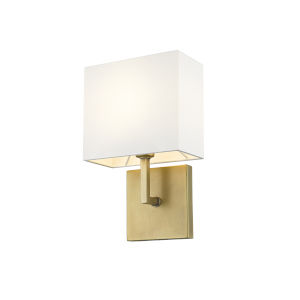 Saxon Rubbed Brass One-Light Wall Sconce