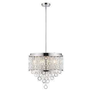 Bijou Chrome Six-Light Pendant