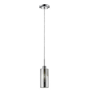 Sempter Chrome One-Light Mini Pendant with Crystal Glass
