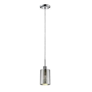 Sempter Chrome Five-Inch One-Light Mini Pendant with Crystal Glass