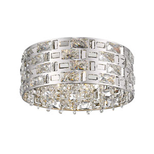 Aludra Chrome Five-Light Flush Mount