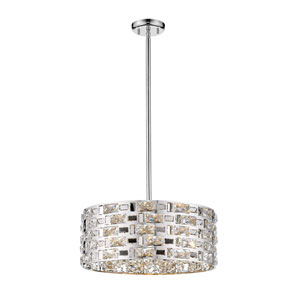 Aludra Chrome Five-Light Pendant