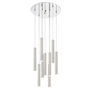 Forest Stain Nickel LED Nine-Light Pendant