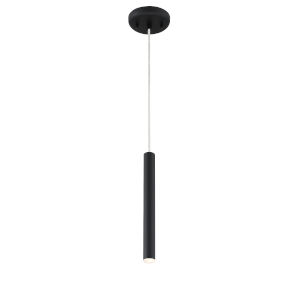Forest Matt black LED One-Light Mini Pendant