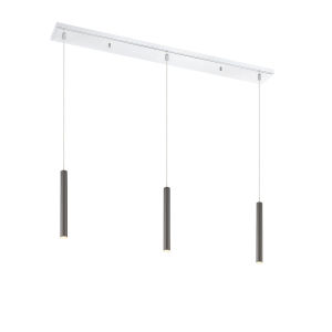 Forest Pearl Black LED Three-Light Mini Chandeliers