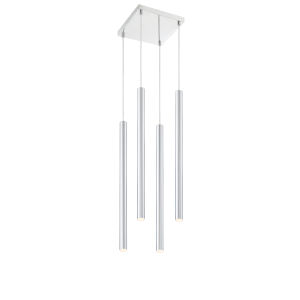 Forest Chrome LED Four-Light Mini Chandeliers