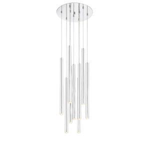 Forest Chrome LED Nine-Light Pendant