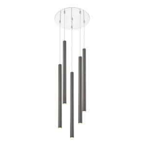 Forest Pearl Black LED Five-Light Pendant