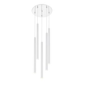 Forest Matte White LED Five-Light Pendant