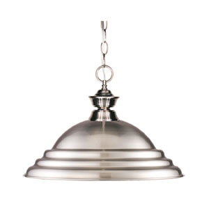 Pendant Lights One-Light Pewter Pendant with Pewter Metal Shade