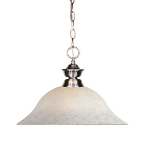 Riviera Brushed Nickel Brushed Nickel One Light Pendant Light