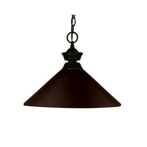 Shooter One-Light Bronze Dome Pendant with Angled Bronze Metal Shade