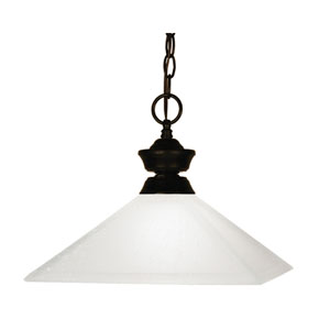 Flatwater One-Light Bronze Dome Pendant with Mission Matte Opal Glass Shade