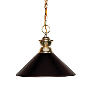 Shark Polished Brass One-Light Pendant with Bronze Shades