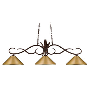 Chicago Bronze Three-Light Island Pendant