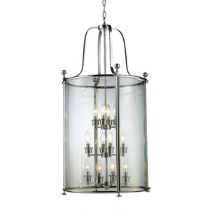 Wyndham Chrome Twelve-Light Lantern Pendant