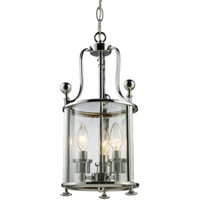 Wyndham Chrome Three-Light Lantern Pendant