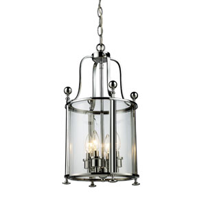 Wyndham Chrome Four-Light Lantern Pendant