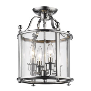 Wyndham Chrome Four-Light Semi Flush Mount