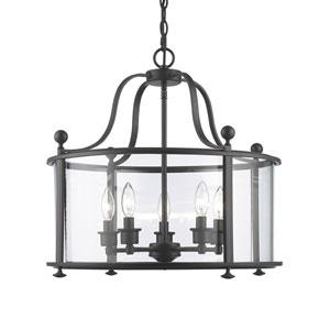 Wyndham Bronze Five-Light Lantern Pendant