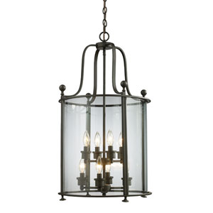 Wyndham Bronze Eight-Light Lantern Pendant