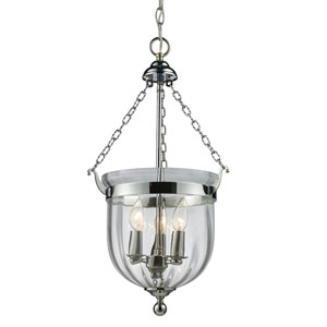 Warwick Chrome Three-Light Pendant