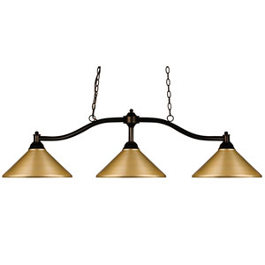Chance Bronze Three-Light Island Pendant
