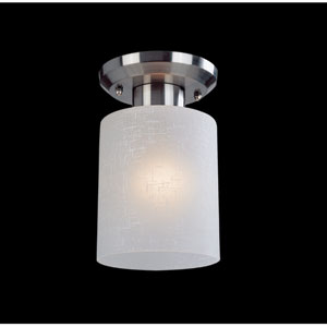 Cobalt Brushed Nickel One-Light Flush Mount
