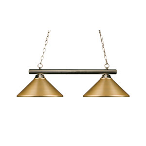 Sharp Shooter Brushed Nickel Two-Light Island Pendant