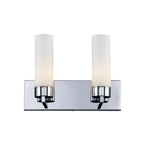 Ibis Chrome Two-Light Bath Fixture