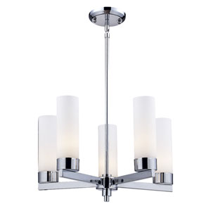 Ibis Chrome Five-Light Chandelier