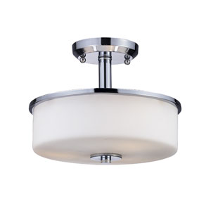 Ibis Chrome Three-Light Semi-Flush Mount