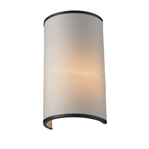 Cameo Creme and Factory Bronze One-Light Wall Sconce
