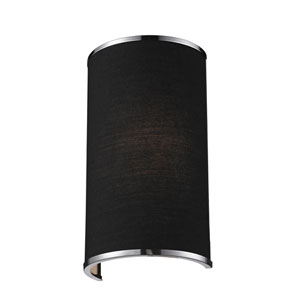 Cameo Black and Chrome One-Light Wall Sconce