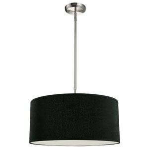 Albion Brushed Nickel Three-Light 20-Inch Pendant