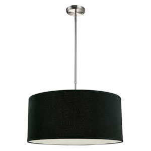Albion Brushed Nickel Three-Light 24-Inch Pendant