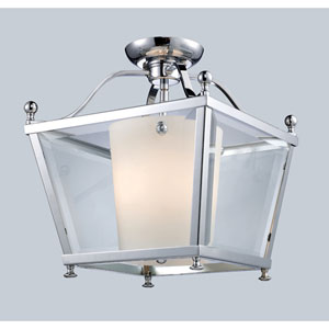 Ashbury Chrome Three-Light 12-Inch Semi-Flush Mount