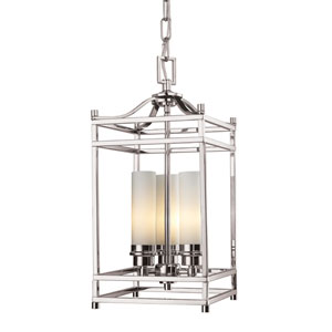 Altadore Brushed Nickel Three Light Chandelier