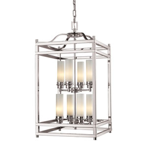 Altadore Brushed Nickel Eight Light Pendant