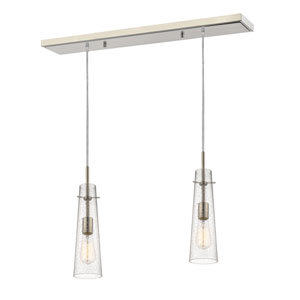 Monte Brushed Nickel One-Light Island Pendant