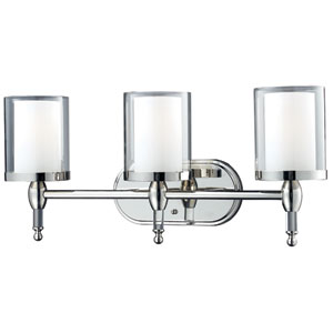 Argenta Chrome Three-Light Bath Fixture