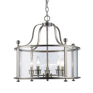 Wyndham Brushed Nickel Five-Light Lantern Pendant
